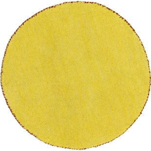 Taul Hand-Knotted Wool Yellow Area Rug by Latitude Run