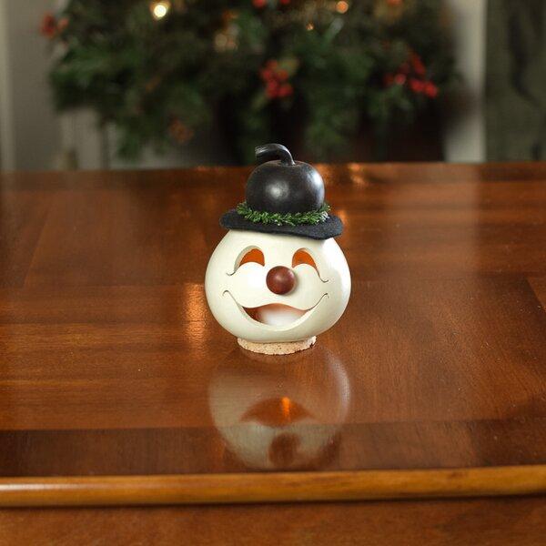 The Holiday Aisle Hand Crafted Gourd Snowman Head Wayfair