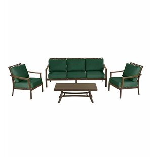 Plow & Hearth Topsail 4 Piece Sofa Set with Cushions