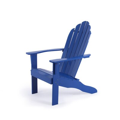 Fordyce Hardwood Adirondack Chair Color: Blue by Andover Mills