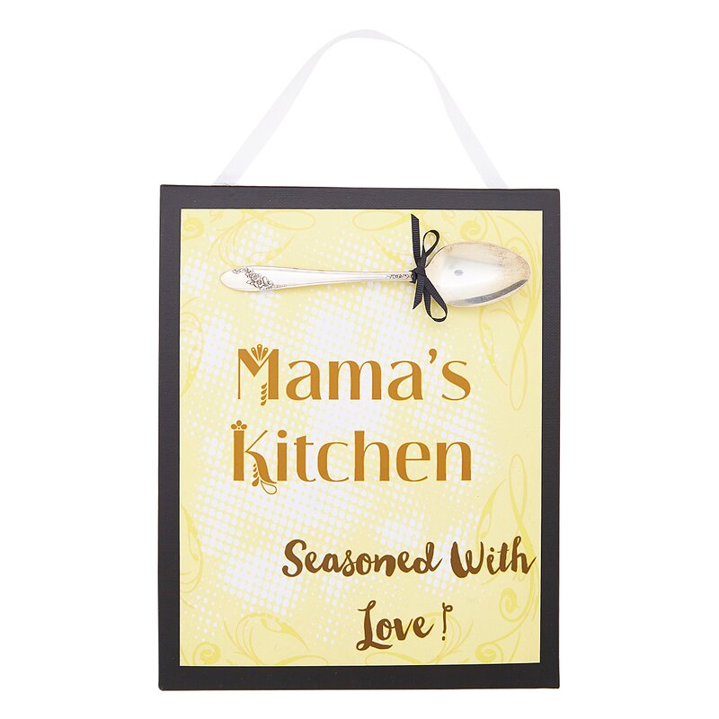 SilverBelles Mama\'s Kitchen Sign Wall Décor | Wayfair