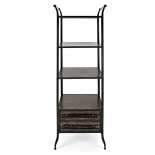 Morin Metal and Wood Standard Bookcase by 17 Stories
