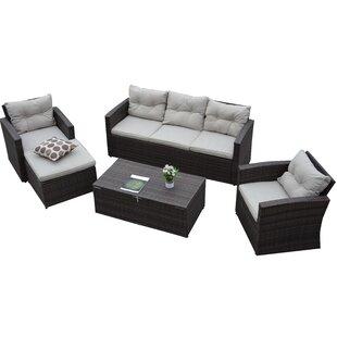 Rio Garden 5 Piece Sofa Set with Cushions