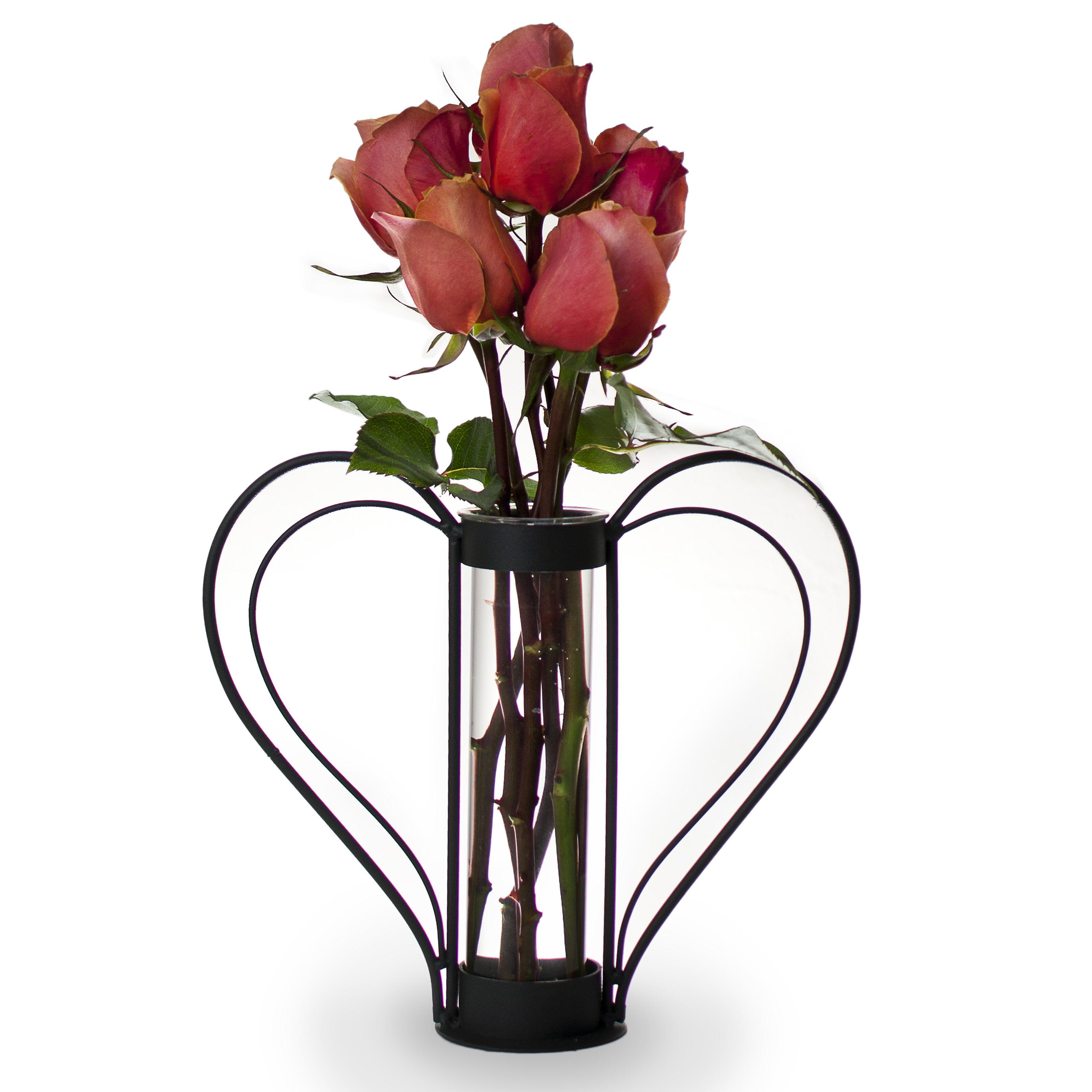 Danyab iron heart shaped sweetheart flower vase reviews wayfair reviewsmspy