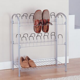Affordable 12 Pair Shoe Rack By Organize It All
