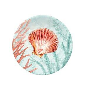 Francisco Coral Reef Melamine Appetizer Plate (Set of 6)