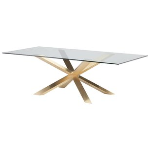 gold glass dining table glass top metal base chrome finish quickview rose gold dining table set wayfair
