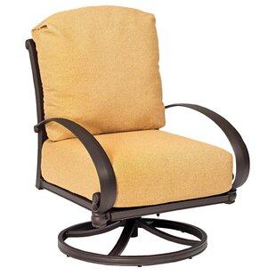 Woodard Holland Swivel Rocking Lounge Chair with Cushions