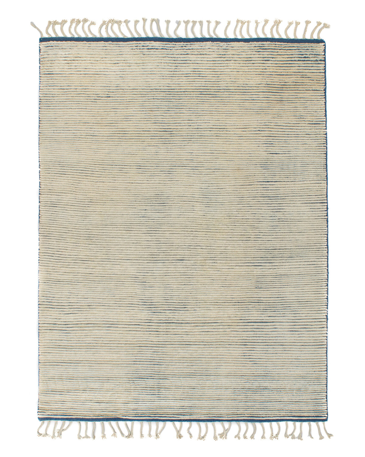 Solo Rugs Grit And Ground Striped Hand Knotted Wool Gray Blue Area Rug Wayfair