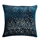 Triangles Velvet Throw Pillow