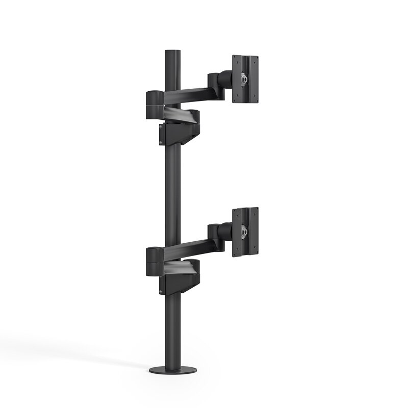 Best Mounting Dual Tv And Monitor Articulating Universal Pole Mount
