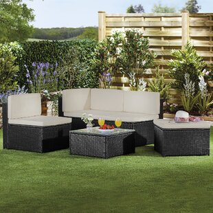 Mickael 4 Seater Rattan Effect Sofa Set By Sol 72 Outdoor