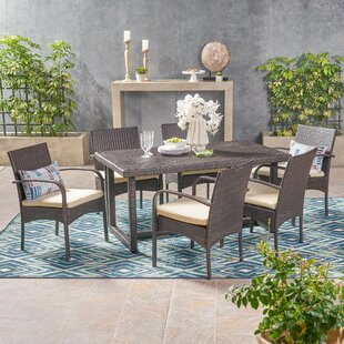 Ivy Bronx Conatser Outdoor 7 Piece Dining Set with Cushions