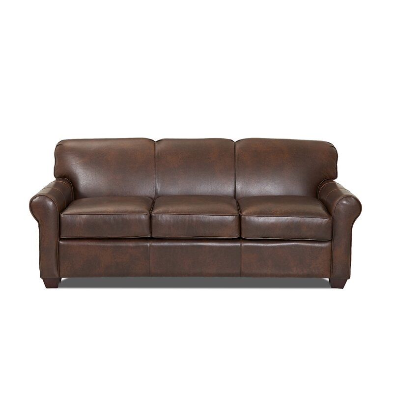 Wayfair Custom Upholstery Jennifer Leather Sofa Bed