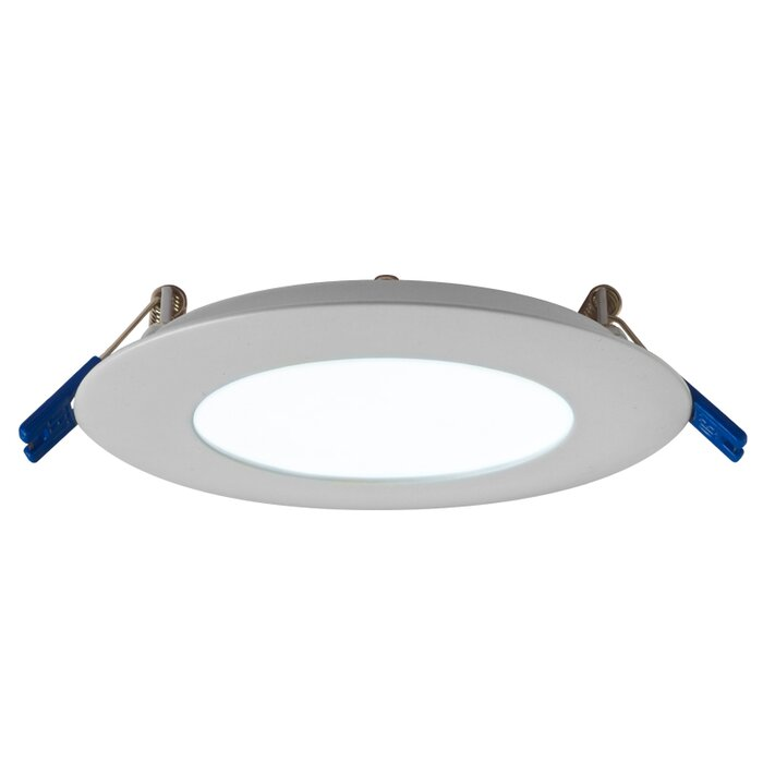 Shower lights youll love wayfair round panel 4 led recessed trim by dals lighting mozeypictures Image collections