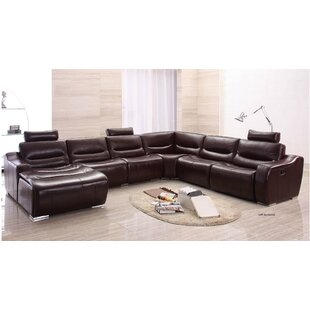 Noci Design Leather Reclining Sectional