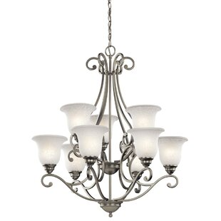 Camerena 9 Light Shaded Chandelier by Kichler