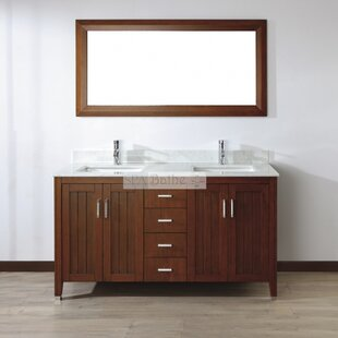Jacchi 60 Double Bathroom Vanity Set with Mirror by Bauhaus Bath