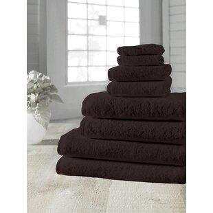 Salbakos Arsenal 8 Piece Turkish Cotton Towel Set by Makroteks Textile L.L.C. 2019 Sale