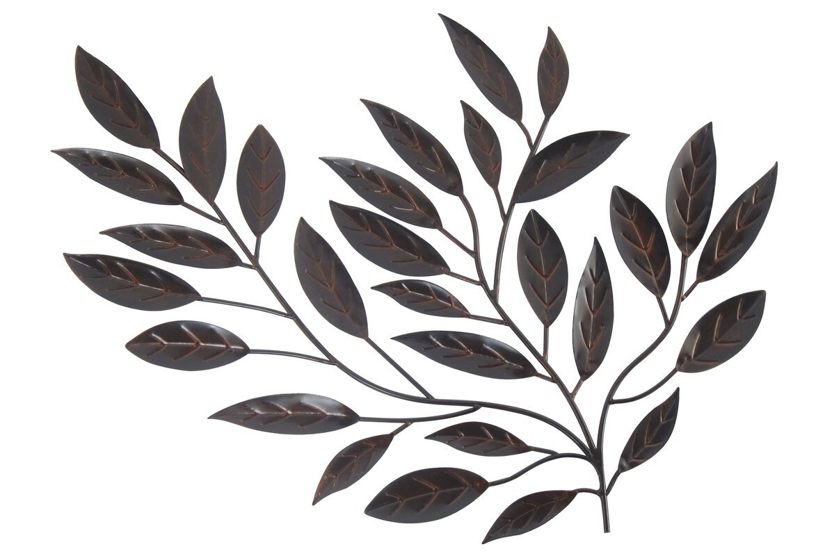 Forged Metal Leaves Sculpture Wall Decor