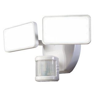LED Outdoor Security Flood Light with Motion Sensor by Heath-Zenith