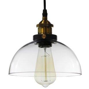 Williston Forge Aicha Dome 1-Light Inverted Pendant