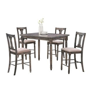 Larissa Wooden 5 Piece Counter Height Pub Table Set Ophelia & Co.