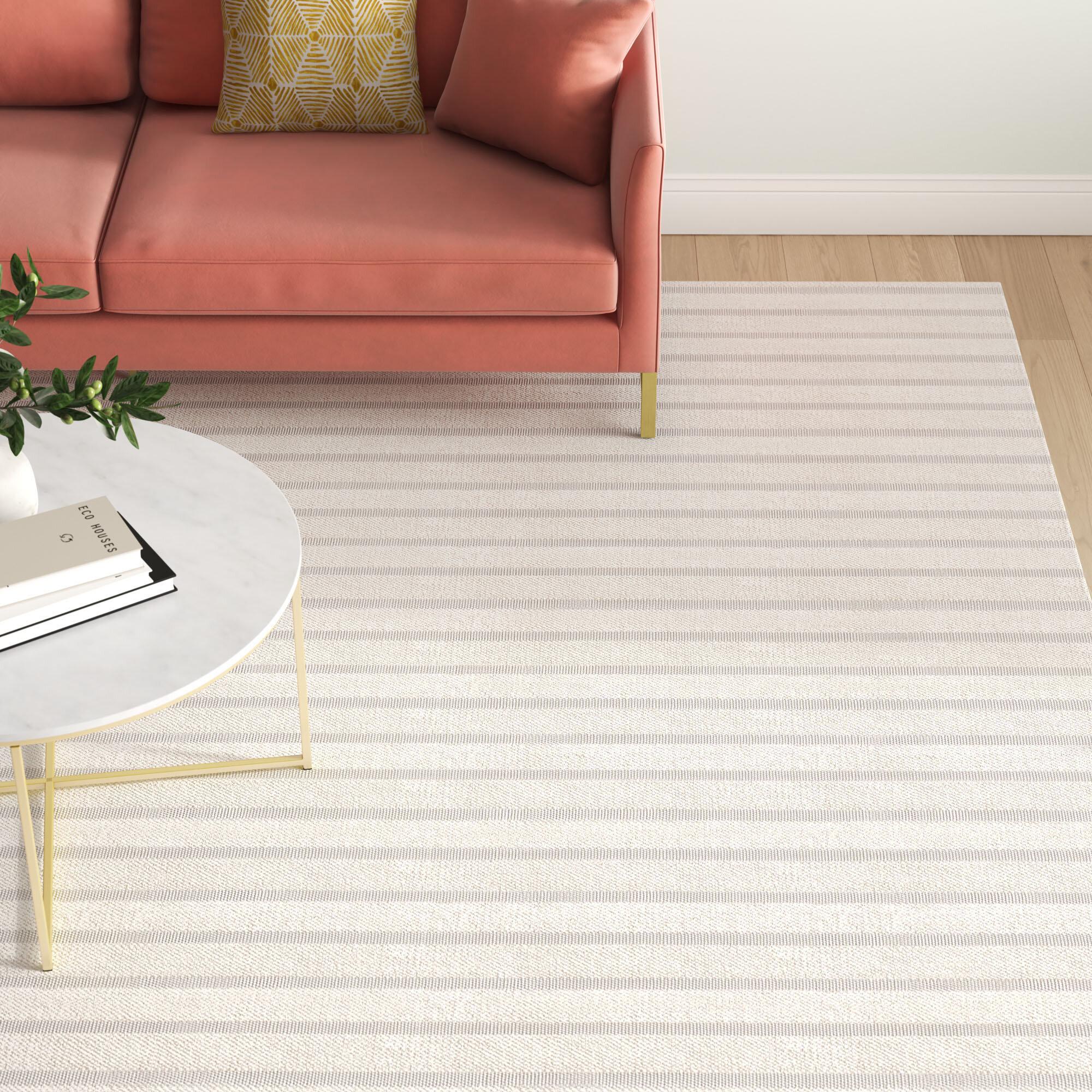 Mitzi Handwoven Flatweave Wool White Area Rug Reviews Joss Main