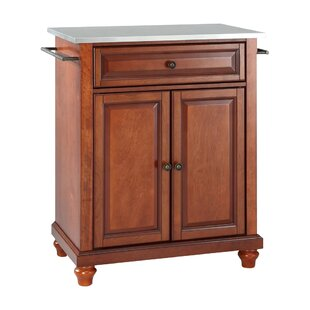 Cambridge Kitchen Cart with Stainless Steel Top by Three Posts
