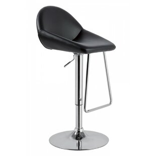 Camron Adjustable Height Metal Framed Swivel Bar Stool