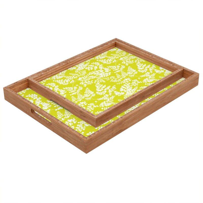 Deny Designs Spring 3 Ottoman Coffee Table Tray Wayfair