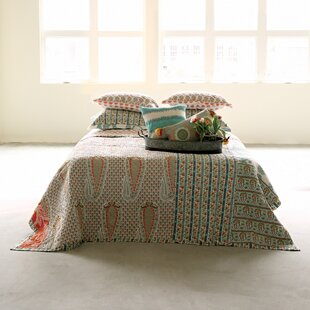 Bungalow Rose Eckel Screen Printed Bed Quilt