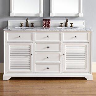 Osmond 60 Double Undermount Sink Cottage White Bathroom Vanity Set by Greyleigh