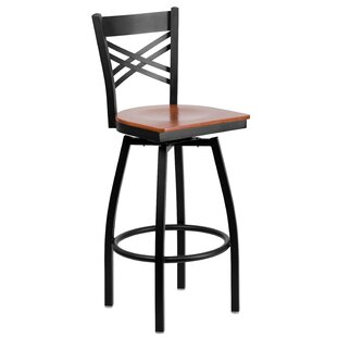 Thornfeldt 30.25 Swivel Bar Stool (Set of 2) Red Barrel Studio