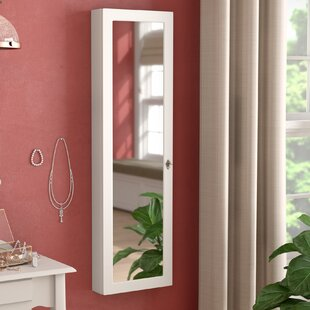 Red Barrel Studio Ridenour Over the Door or Wall Mount Jewelry Armoire with Mirror