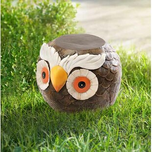 August Grove Ritter Owl Garden Stool