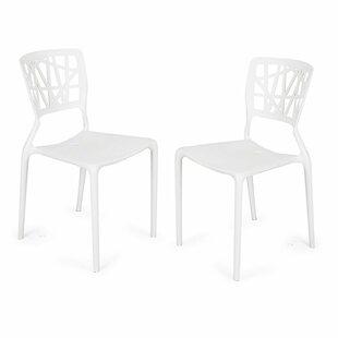 Ebern Designs Engel Plastic Dining Chair (Set of 2)