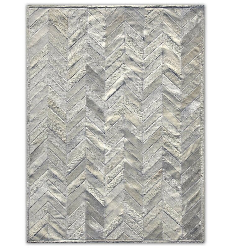 Patchwork Cowhide Yves Ivory Area Rug