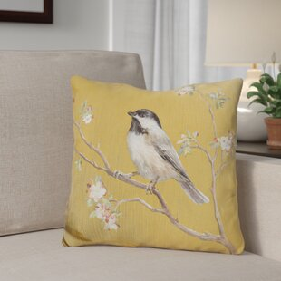 Gingras Capped Chickadee Throw Pillow