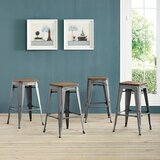Ashlyn Solid Wood Bar & Counter Stool (Set of 4) by Williston Forge