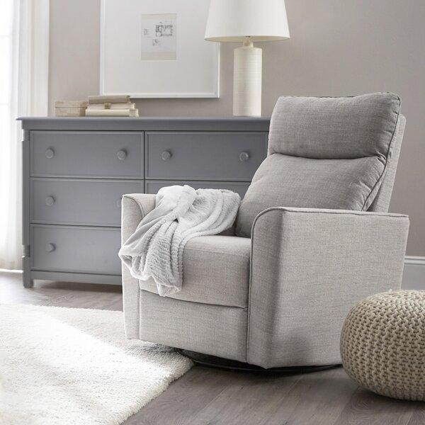 karla dubois soho comfort upholstered swivel glider reviews wayfair