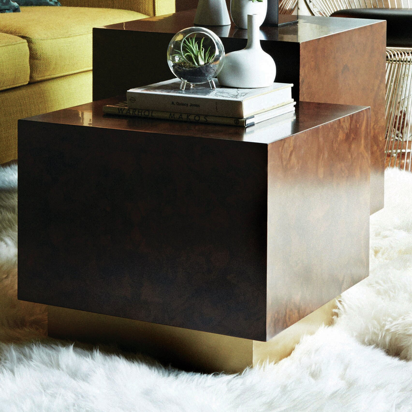 M3LD Milton Burl Cube End Table | Wayfair