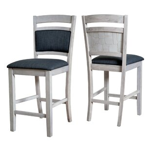Affordable Pickens Embossed Stone 24.96 Bar Stool (Set of 2) by Latitude Run Reviews (2019) & Buyer's Guide