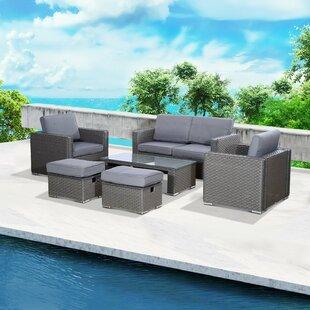 Waite 6 Seater Rattan Sofa Set Image