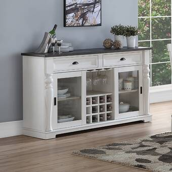 Kelly Clarkson Home Nathalie 46 63 Wide 2 Drawer Rubberwood Wood Buffet Table Reviews Wayfair