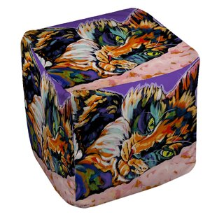 Calico Dreams Pouf by Manual Woodworkers & Weavers
