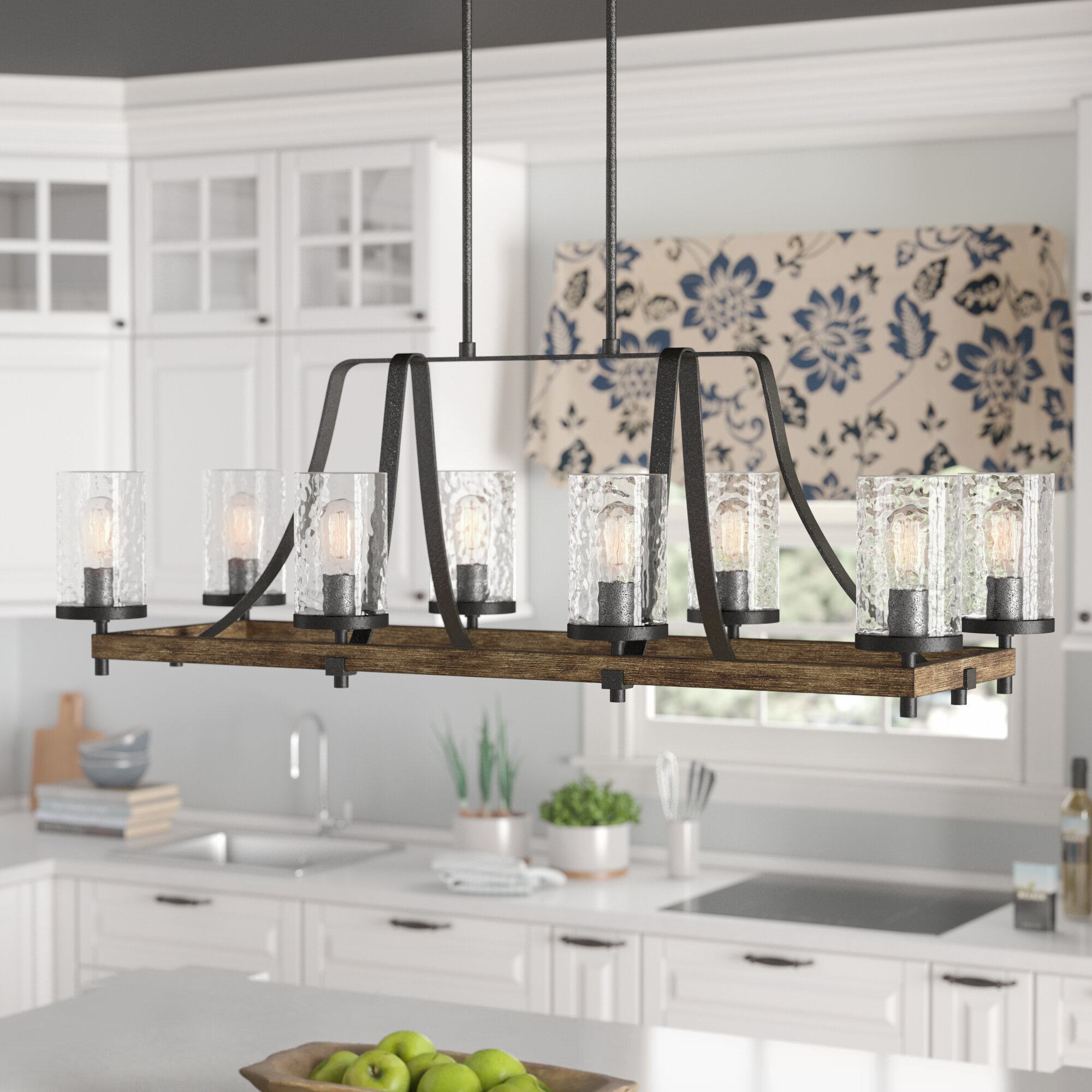 Laurel Foundry Modern Farmhouse Zaria 8 Light Kitchen Island Pendant Reviews Wayfair
