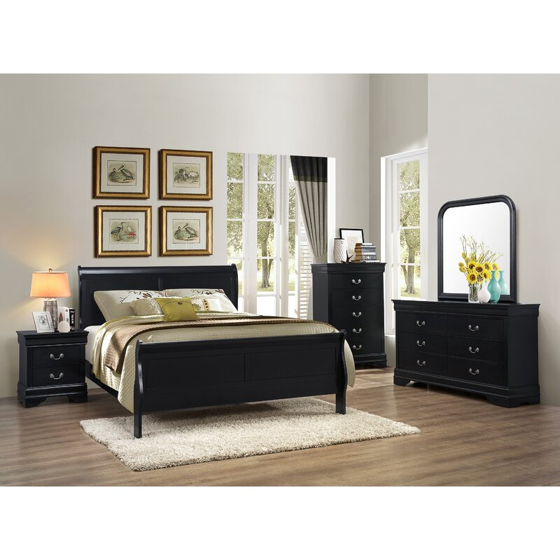 Perfect Isony 594 Louis Philippe Configurable Bedroom Set