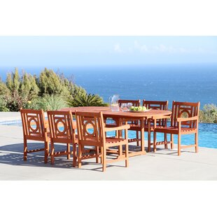 Beachcrest Home Monterry 7 Piece Eucalyptus Hardwood Dining Set