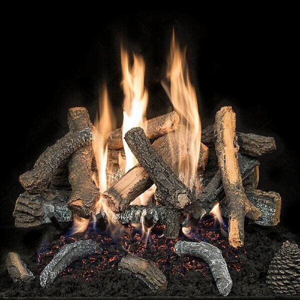 Hargrovegaslogs Cascade Char Stack Vented Natural Gas Propane Fireplace Log Set Wayfair